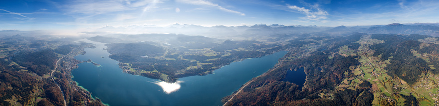Lake Woerthersee in Carinthia