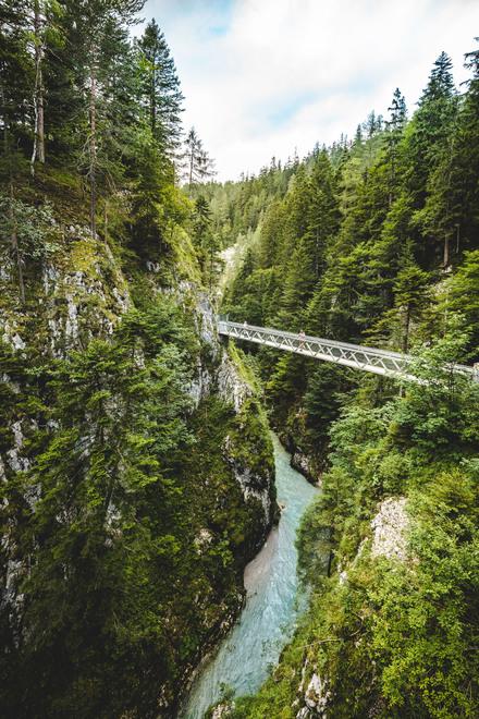 Brücke in der Leutascher Geisterklamm