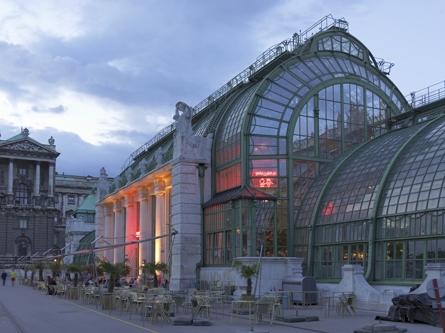 Vienna, the Hofburg palace garden, the Palmhouse