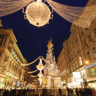Graben in Vienna at christmas time