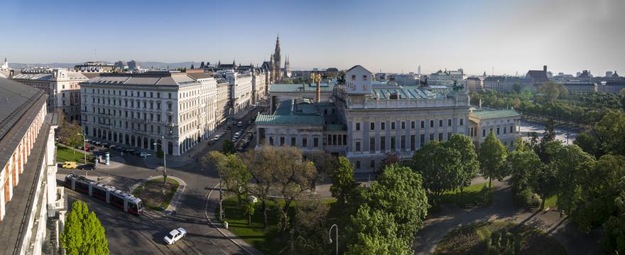 Wien, Blick vom Justizpalast auf Parlament