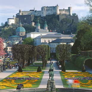 Salzburg city, view from Mirabell Palace