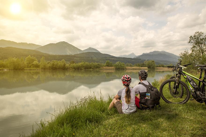 Radtour am Drauradweg. © Region Villach Tourismus, Fotograf: Martin Jordan