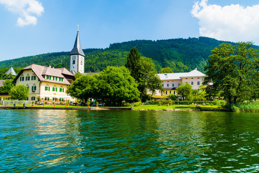 Stift Ossiach am Ossiachersee in Kärnten. © Region Villach Tourismus, Fotograf: Michael Stabentheiner