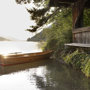 Boat on Lake Weissensee