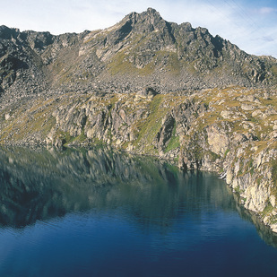 Lake Wangenitz in the Hohe Tauern National Park / Carinthia
