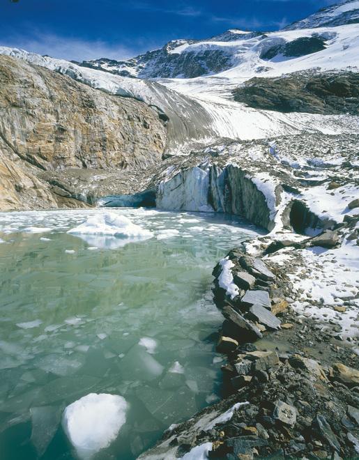Nationalpark Hohe Tauern / Krimmler Kees mit Eissee / Salzburger Land