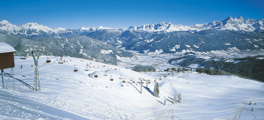 skiing area Flachau winter landscape