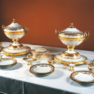 Museum in the Hofburg Palace / Silver Collection exhibits
