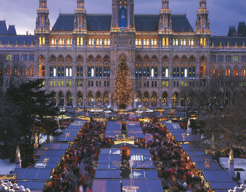 Christmas market in Vienna / Town Hall square