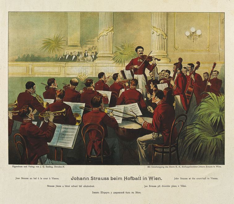 Johann Strauss with his Orchestra / Strauss Museum (Residence)