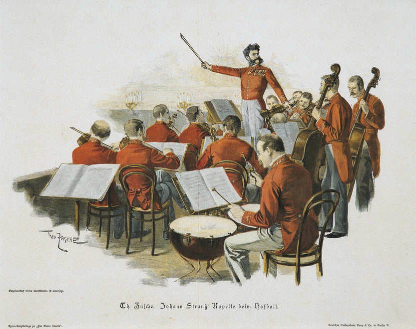 Johann Strauss and his orchestra