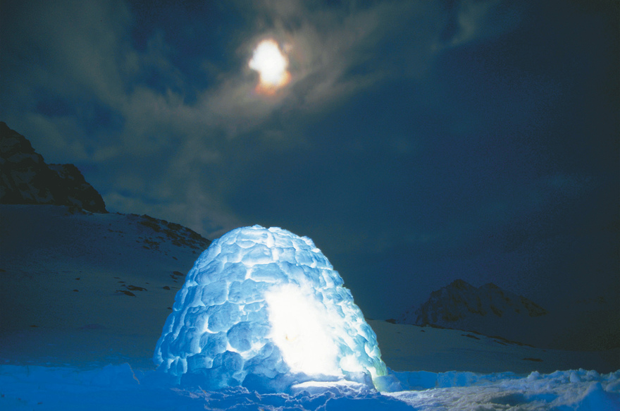 Igloo by night