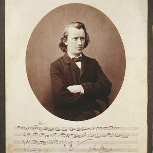 Portrait of Johannes Brahms / Society of Music Lovers Vienna