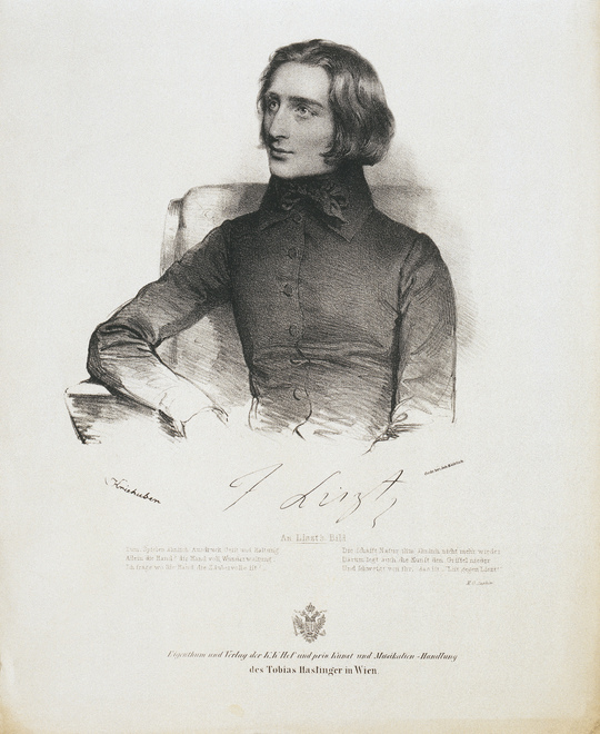Franz Liszt / Porträt / Zeichnung