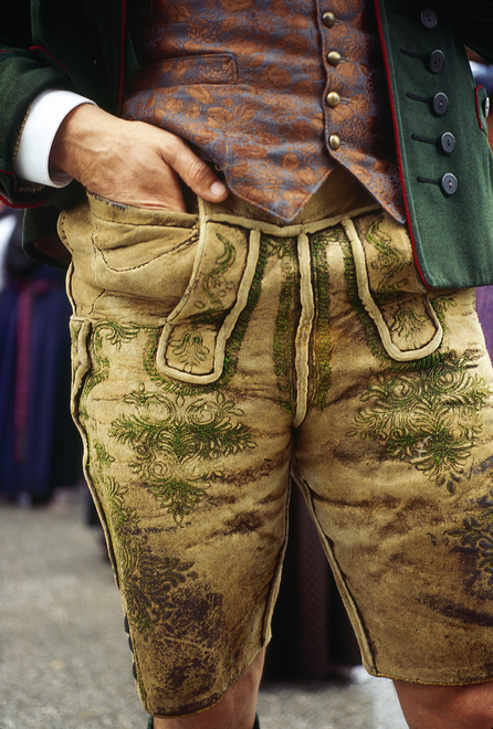 Man from Styria 'Lederhosen'  Leather pants Bad Aussee   Styria
