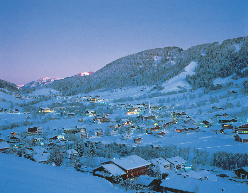 Wildschoenau at night winter landscape Tyrol