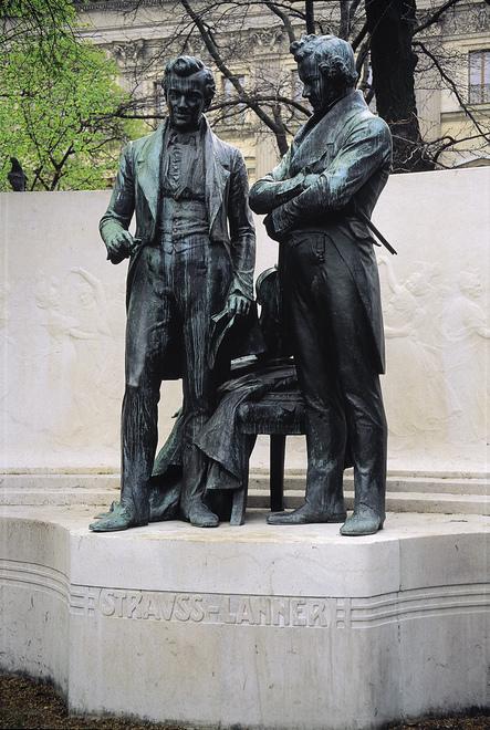 Strauss-Lanner Denkmal im Rathauspark