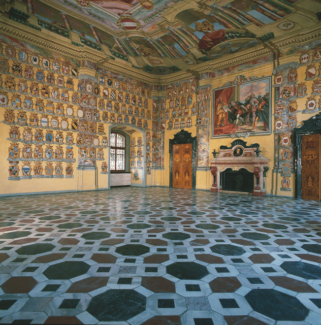 """Coat of Arms Hall"" in the Landhaus Klagenfurt"