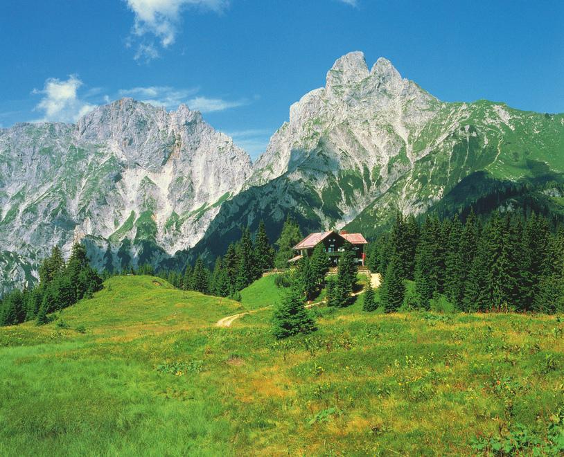 Moedlinger Huette im Gesaeuse / bei Johnsbach / Steiermark