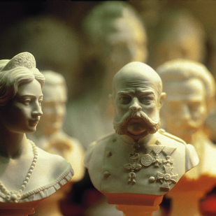 Souvenirs - Sisi and Franz Joseph I. busts