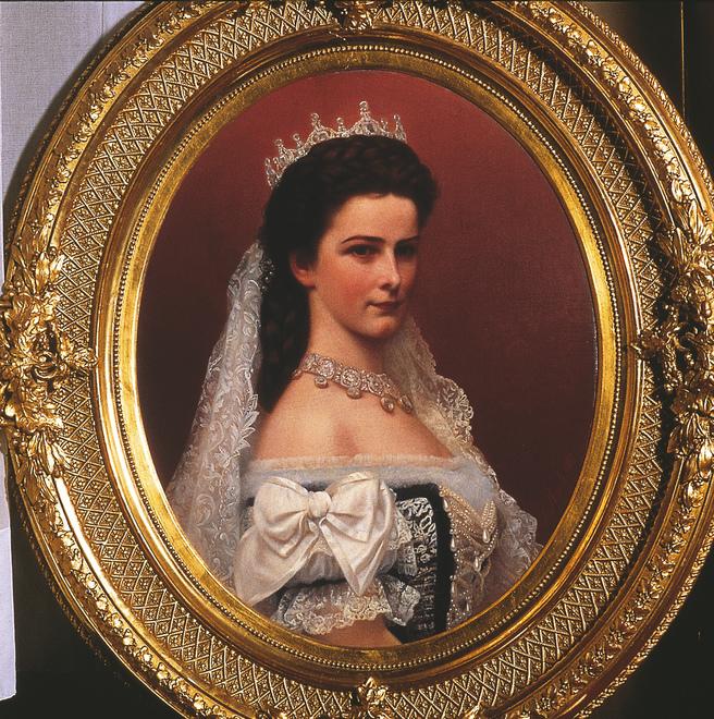 Kaiserin Elisabeth I. im ungarischen Krönungsornat (Gemaelde: Georg Raab)