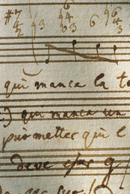 W. A. Mozart Originalpartitur / Detail