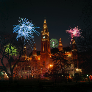 New Year's Eve in Vienna / City hall