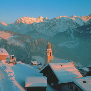 Fontanella Winter in Grosswalsertal Valley