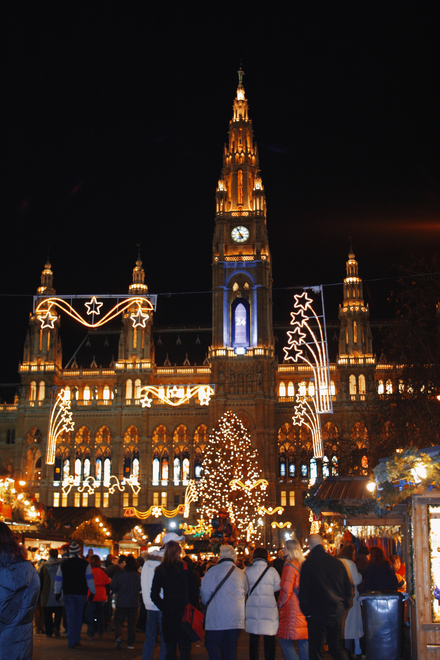 City hall in Vienna / Christmas market