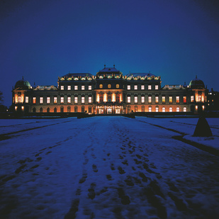 Upper Belvedere Palace in winter