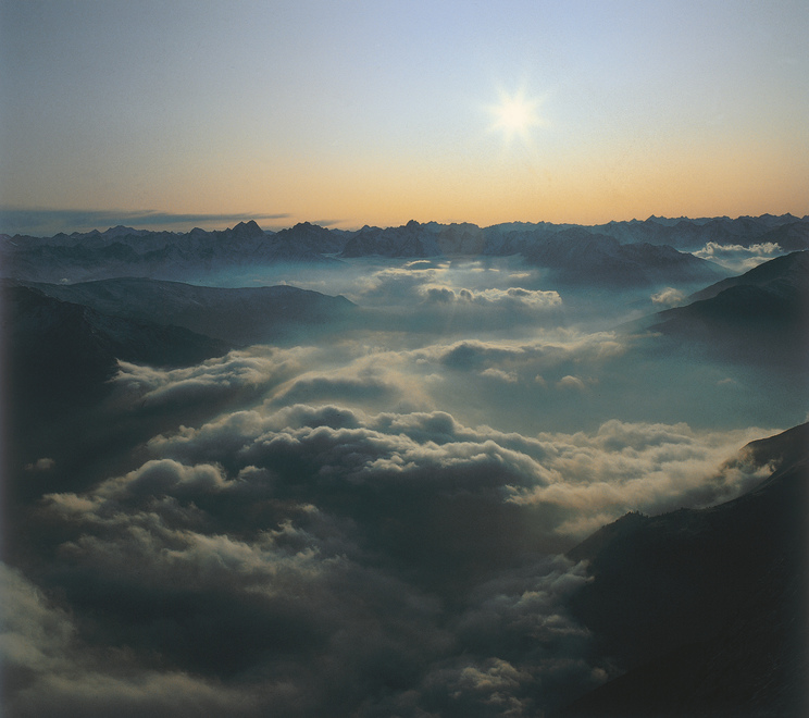 Morgennebel in Tirol