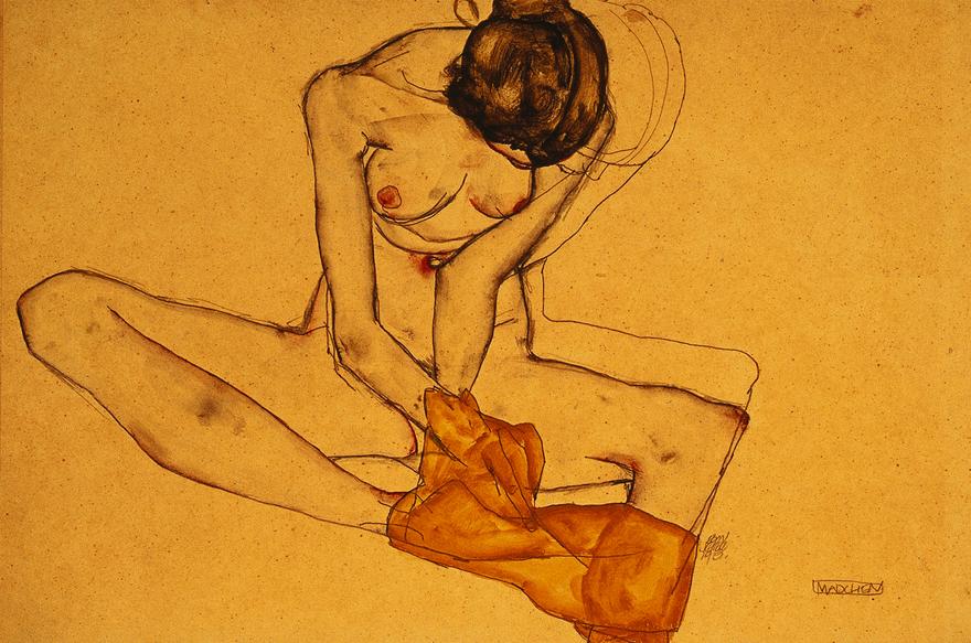 Zeichnung von Egon Schiele