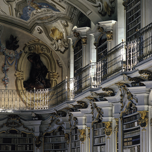 Admont Monastery Detail of the library Styria   Ennstal Valley