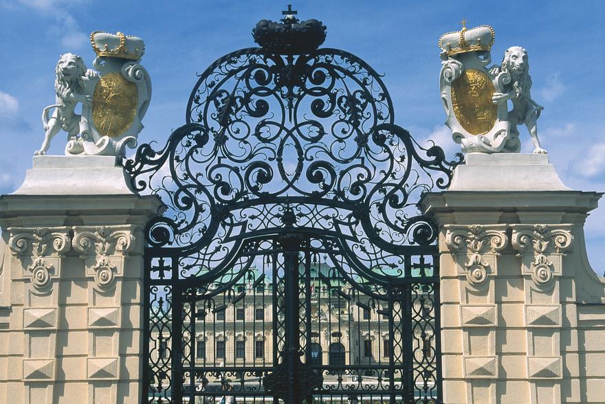 Tor des Schloss Belvedere / Oberes Belvedere in Wien