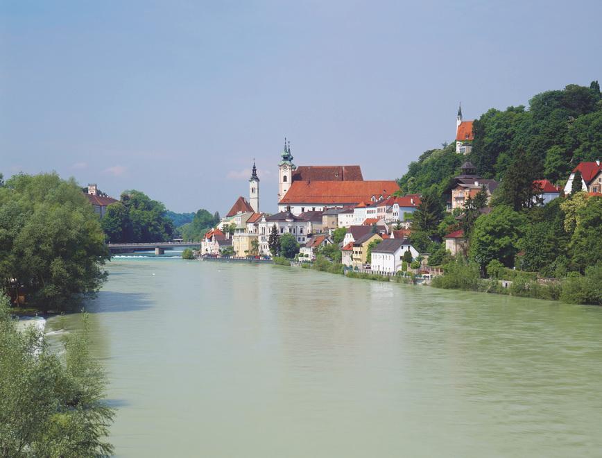 Der Enns fließt durch die Stadt Steyr in Oberösterreich. © Österreich Werbung, Fotograf: Popp Hackner