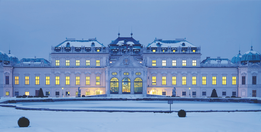 Belvedere Palace in Vienna / Winter