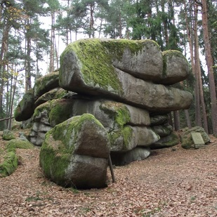 Stone of Christophorus in the nature park Blockheide