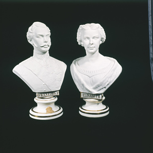 """Sisi"" and Franz Joseph I. busts Private collection"