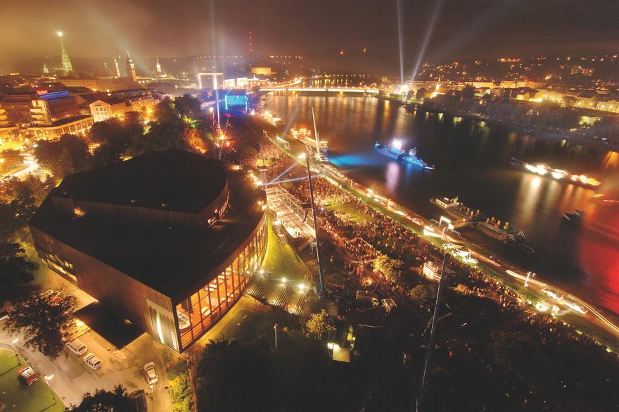Brucknerfest in Linz an der Donau / Klangwolke