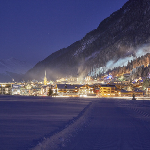 View of the village Ischgl in winter