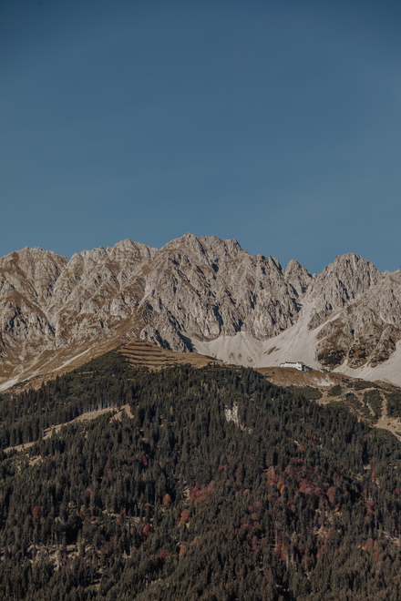 View of the Nordkette mountains in Innsbruck