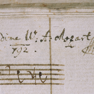 """Requiem""  Signature of Mozart Austrian National Library"