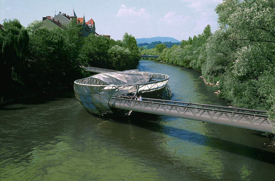 View of Graz / Murinsel / Styria