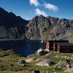 Mountain refuge at the Lake Wangenitz / Carinthia / Hohe Tauern National Park