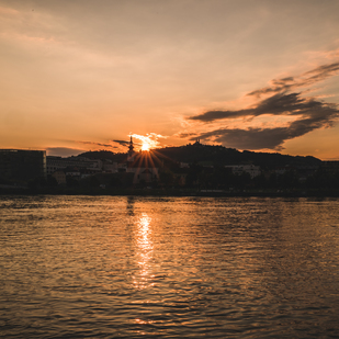 Linz sunset
