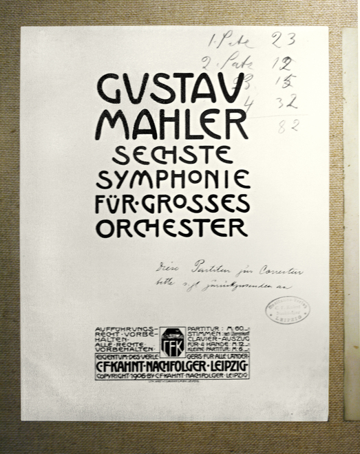 Gustav Mahler / Textheft /Notenblatt