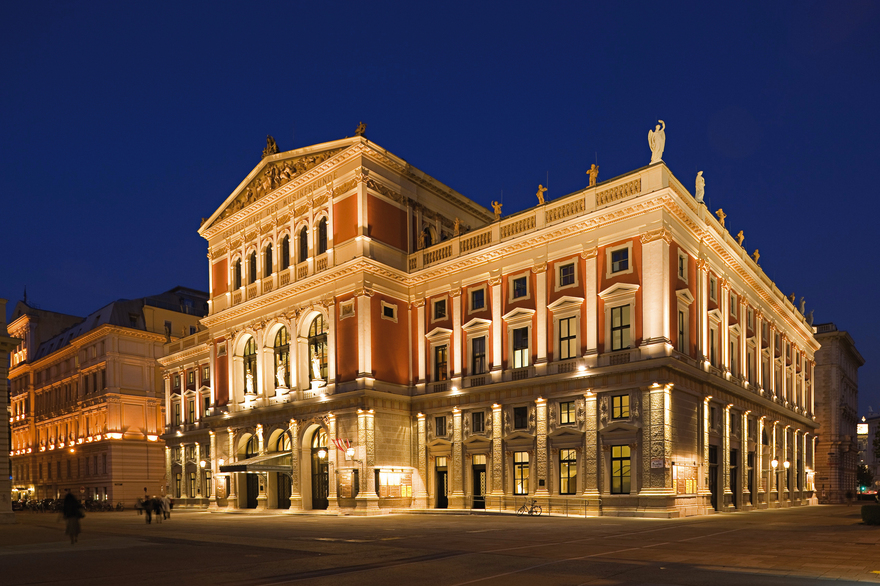 Musikverein in Wien / Nachtaufnahme