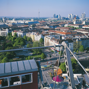 View of Vienna from the Giant Ferris Wheel