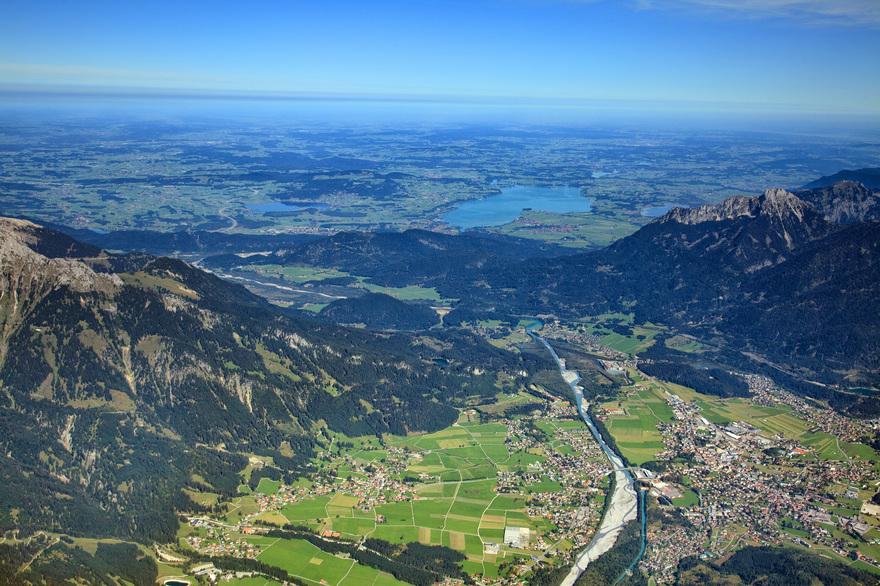 Blick nach Deutschland aus dem Lechtal in Tirol. © Österreich Werbung, Fotograf: Homberger